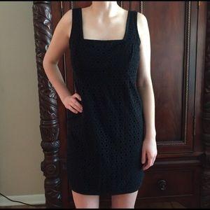 Nine West Black Eyelet Dress. Size 8